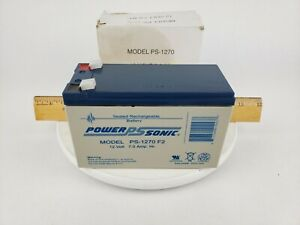 Power-Sonic PS-1270 F2 Sealed Lead Acid AGM Rechargeable Battery 12V 7Ah Light