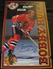 BOBBY HULL CHICAGO BLACKHAWKS SIGNED OTTAWA 67s PROMO POSTER 2005