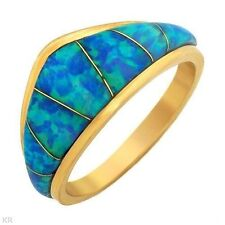 Ring With Genuine Opals Solid  14K YG
