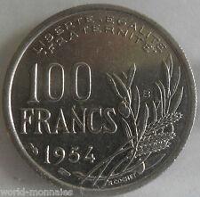 100 francs cochet 1954 B : SUP : pièce de monnaie française