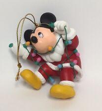GROLIER Disney Mickey Tangled in Lights Ornament 26231 101 Christmas Magic MIB