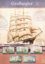 GERMANY DEUTSCHLAND 2005 YOUTH WELFARE SHIPS SET OF 5 SOUVENIR FOLDER BERLIN CDS