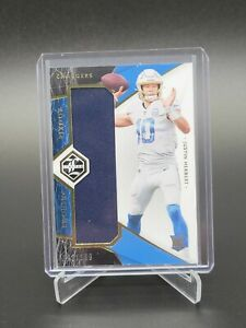 2020 Limited Justin Herbert Rookie Phenoms Jersey Patch RC SP /199 Chargers