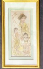 Edna Hibel LE Lithograph on Silk Signed and Numbered XIX 2/23 Ed 337 'Setsu'