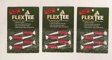 "Flex Tee 3"" Offset Golf Tees 3 Packs of 4, Qty 12, Driver Distance/Performance"