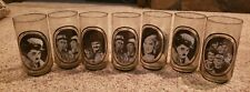 1979 Arbys Actors Collector Glass set Mae West Laurel & Hardy Abbott & Costello