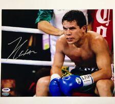 JULIO CESAR CHAVEZ Autograph Signed 11x14 Photo w/ PSA/DNA COA ~ HOF Auto MEXICO