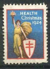 TIMBRE VIGNETTE ERINNOPHILIE 1924  HEALT CHRISTMAS