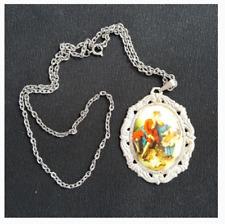 Vintage Renaissance Print Pendant Necklace Jewelry