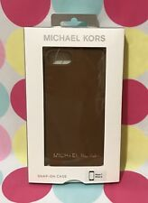NEW MICHAEL KORS SAFFIANO LEATHER CASE FOR IPHONE 7 & 8 LUGGAGE New in Box $68