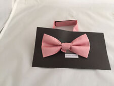 Dusky Pink Polyester BOYS Ready Pre-tied Bow tie > 60 Colours Available in Shop