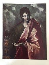 El Greco (1541-1614) Color Print Plate Twelve, St. John the Evangelist