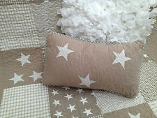 N Natural Stars Lachlan Filled Rectangle Boys Bedroom Nursery Decorator Cushion