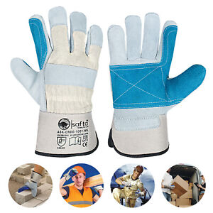 Canadian Leather Rigger Work Gloves Heavy Duty Double Palm Gloves Multi Purpose