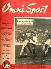 Omni Sport n°6 - 1946 - Foot France Tchécoslovaquie - Louis Gérard - Lapébie