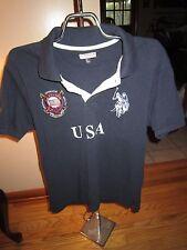 Mens U.S. Polo Navy Blue USA Short Sleeve Polo Shirt Size XS Very Good Condition