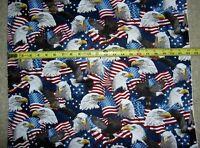 Eagles Patriotic Eagle Flag Flags USA 5566 Multi Timeless Durable Cotton Fabric