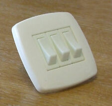Wall light switch, 3 gang 2 way contemporary style, plastic, Ivory   10316