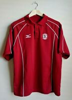 Mizuno Stanford Baseball Polo Red Shirt Men's Size Medium