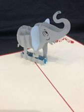 3D Pop Up Card Elephant Greeting Card Africa Dumbo
