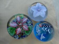 Paperweight Art Glass Murano Style 3 Pcs.