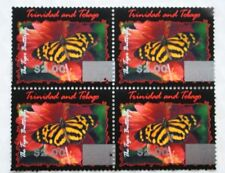 Trinidad & Tobago $2.00 Overprint 2017 Butterfly Issue Block of Four Mint