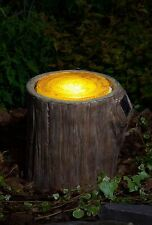 Light Up LED Tree Stump Woodland Decorative Garden Art
