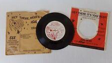Yogi Bear 7 inch Record Kelloggs Promo Columbia Pictures 33 1/3 RPM David Gates