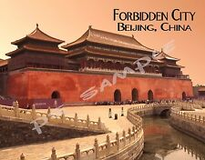 China - FORBIDDEN CITY - Travel Souvenir FLEXIBLE Fridge MAGNET