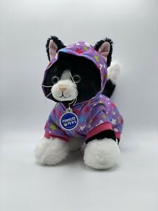 Build A Bear Promise Pets-Black & White Cat With Build A Bear Clothing Piece