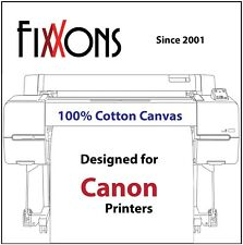 "Ultra Premium Inkjet Cotton Canvas Matte For Canon 17"" x 40' Roll (4 Rolls)"