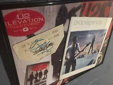 Bono Autograph Signed U2 Ticket Elevation Tour 2001,Framed last Propaganda issue