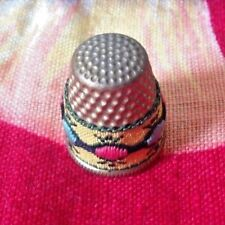 Vintage~Thimble~Embroider ed Design~Collectible