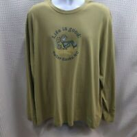 Life is Good Mens XL Long Sleeve Shirt Outer Banks OBX NC Free Shipping!