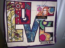 """🌸 Brighton """"Love Groove"""" Multi Color Canvas Tote Bag NWT 🌸"""