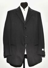NEW MEN ARMANI COLLEZIONI NAVY BLUE COTTON SUIT MADE IN ITALY 46R/W38