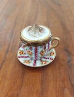 Floral Cup w/ saucer - Vintage Limoges Box
