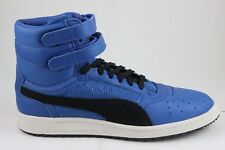 b2dc72aa7aa1 PUMA Sky II Hi Colorblocked Leather SNEAKERS Lapis Blue-puma Black 11