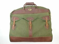 Vintage Gokeys Orvis Garment Bag Brown Leather Hunting Travel Case Suitcase WWY