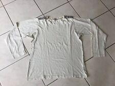 Tee-shirt BURBERRY taille M blanc tartan beige bon etat