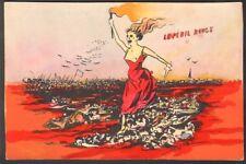 T. Bianco. Le Péril Rouge. Carte avant la lettre aquarellée. Vers 1905