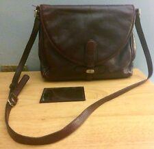 Vintage Sport Gold Pfeil Leather Crossbody Bag Burgundy W. Germany w/ Mirror