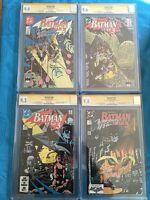 Batman: Year Three set #436-439 - DC - CGC SS 9.0 to 9.8 - Sig by Wolfman,Beatty