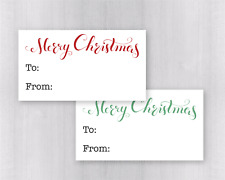 60 Count Matte Gift Labels for Christmas and Holidays, Merry Christmas (#521)