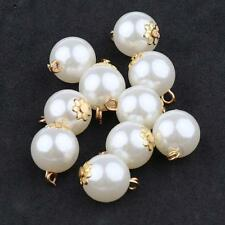 10pcs Metal Pearl Pendants Charms Findings for DIY Necklace Jewelry 12mm