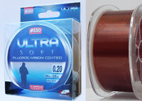 Asso Ultra Soft Coated Fluorocarbon Fishing Line 300 m Coppery Spools Sizes New