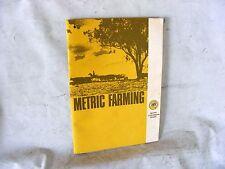Metric Farming c1970s ... Metric Conversion Board farm agriculture book