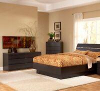 Brown 3 Piece Full Bed Furniture Set Dorm Bedroom Home Living Decor 2-Dressers