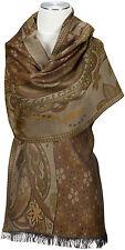 Pashmina Schal Wolle Modal wool scarf stole écharpe foulard Braun   Brown