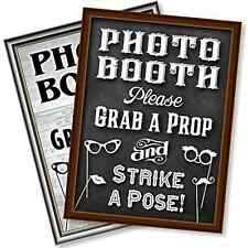 Bigtime Designs Photo Booth Props Sign, 2-Sided, Use for any Wedding, Party or E
